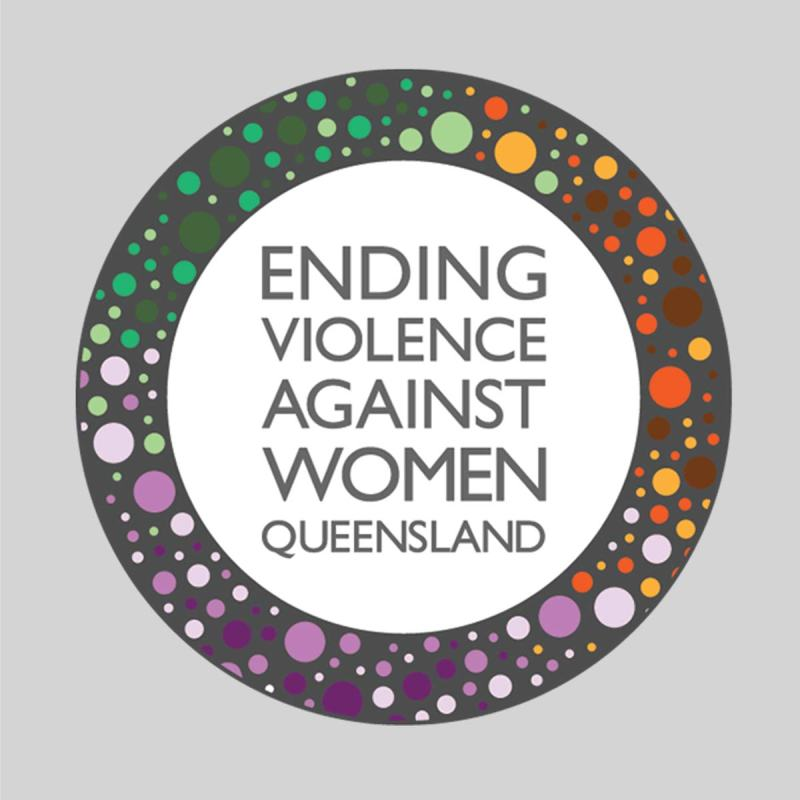 Logo designed for peak body Ending Violence Against Women Qld.